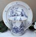 392-200BLR - Blue Romance Toile Catherine Cup & Saucer