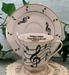 392-206T4 - Music Notes Catherine Cup & Saucer w/Text