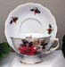 394-126P - Christmas Poinsettia Laurel Cup & Saucer