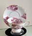 394-200PKR - Pink Romance Toile Laurel Cup & Saucer