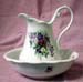 451-229 - Bouquet of Flowers Large Pitcher & Bowl