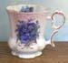 520-139 - Blue Forget Me Not Victorian Mug