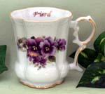 520-166FR - Friend Pansy Victorian Mug