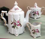 530-145A - Hummingbird w/Flowers Teapot/Cream & Sugar Set
