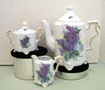 530-156 - Lilac Bouquet Teapot/Cream & Sugar Set