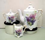 530-158 - Lilac Spray Teapot/Cream & Sugar Set