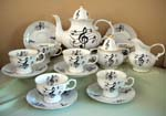 Music Notes 15pc Tea Set