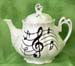 562-206 - Music Notes Ashley Teapot