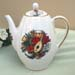 563-126M - Christmas Music Tall Ribbed Teapot