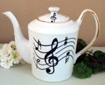 Music Notes Classic Teapot