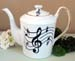 564-206 - Music Notes Classic Teapot