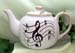 565-206 - Music Notes 3C Round Teapot