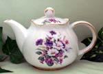 565-216 - Daisies Violets 3C Round Teapot