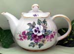565-231 - Bouquet of Pansies 3C Round Teapot
