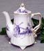 567-200BW - Blue Windmill 2C Antique Teapot