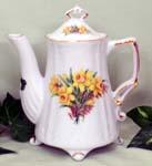 567-208 - Daffodil 2C Antique Teapot