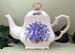 570-139 - Blue Forget Me Not 8C Square Teapot