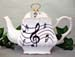 570-206 - Music Notes 8C Square Teapot