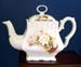 570-225MD - Mothers Day White Rose Spray 8C Square Teapot