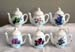 676-999 - Assorted Floral Teapot Ornament Set of 6