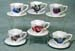 677-999 - Assorted Floral Cup & Saucer Ornament Set of 6