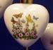 678-120 - Butterfly w/Hollyhock Heart Ornament