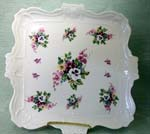 "724-231 - Bouquet of Pansies 14"" Square Tray"