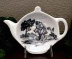 Black Romance Toile Tea Caddy