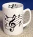 MUG-206 - Music Notes Plain Mug