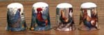 T212 - Hen & Rooster Thimble - 4 Assorted