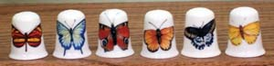 Butterflies Thimble-6 Assorted