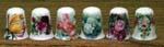 T232 - Rose Garden Thimble-6 Assorted