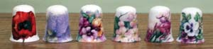 Floral Delight Thimble-6 Assorted